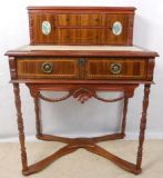 Continental Style Inlaid Mahogany Ladies Writing Desk